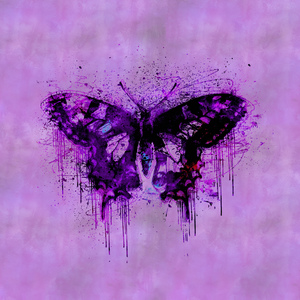 Purple Artsy Butterfly