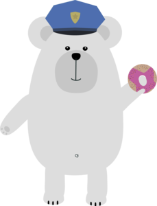 Polar Bear Police Officer