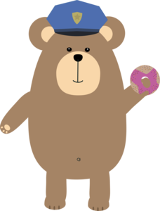 Police Office Brown Bear