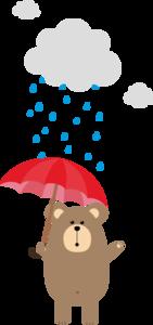 Brown Bear With Umbrella