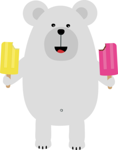 Polar Bear With Icecream