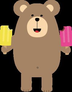 Brown Bear With Icecream