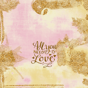 All You Need Is Love In Gold Pink