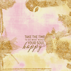 Take The Time Happy Pink Gold
