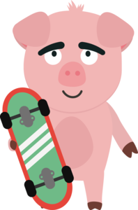 Skateboard Pig With Boards