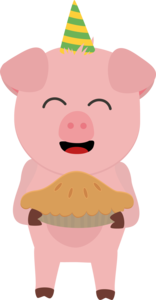 Party Pig With Cake