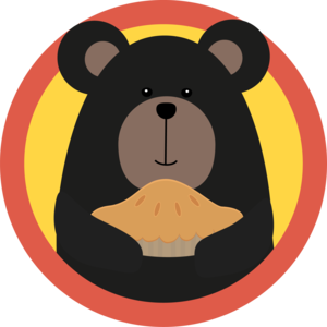Grizzly With Cake In Circle