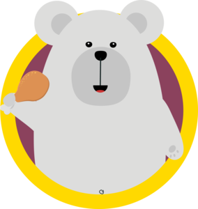 Polar Bear With Chicken