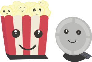 Cinema Movie Pocorn With Faces