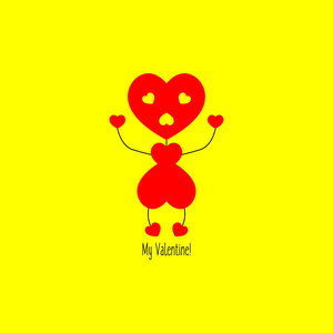 Bee My Valentine Yellow