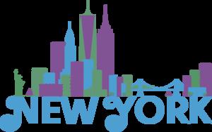 New York Colorful Skyline