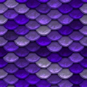 Mermaid Scale Purple Pattern