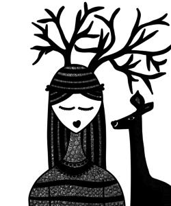 The Deer Girl In Black