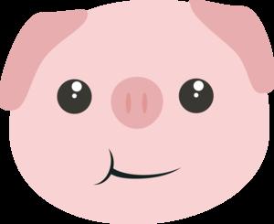 Cute Chewing Kawaii Piggy