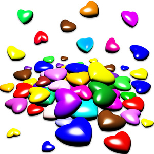 Hearts Candies Colors
