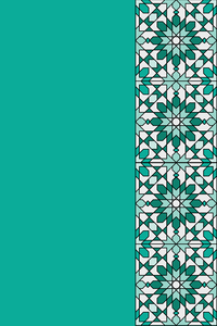 Moroccan Tile Pattern In Green