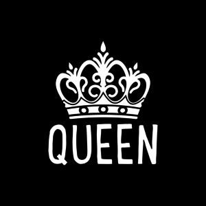 Buy Thes White Queen Crown On Black Design For Mobile Covers Online