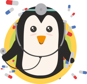 Penguin Doctor In Circle