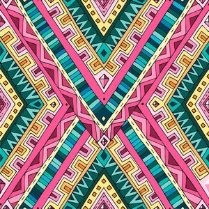Pink Green Aztec Pattern