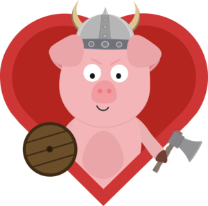 Viking Pig With Heart