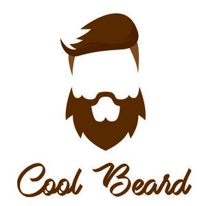 Brown Cool Beard On White
