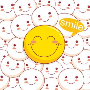 Cute Smile Yellow Emoticon