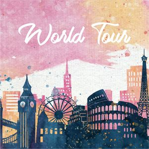 World Tour On Multicolor Brush Strokes