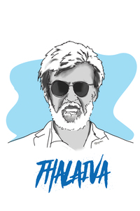 Rajnikanth Thalaiva On White