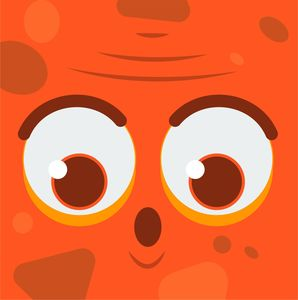 Orange Monster With Big Eyes