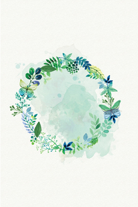 Green Floral Tiara
