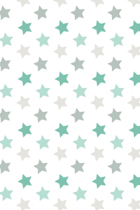 Green Stars Pattern On White
