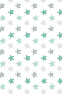 Green Stars Pattern On White