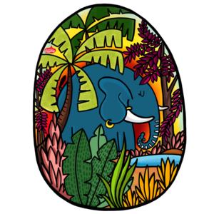 Early Morning Elephant
