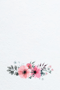 Watercolor Hand Painted Flowers