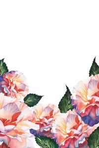 Multicolor Flower Pattern On White