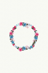 Colorful Floral Tiara On White
