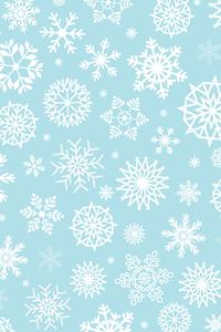 White Snow Flakes On Sky Blue