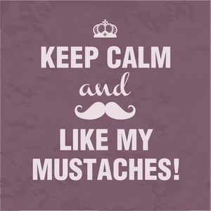 Keep Calm And Like My Mustaches