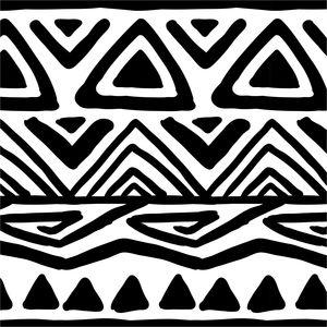 Black Aztec Pattern On White