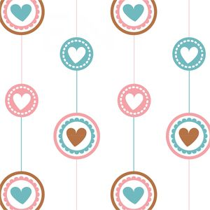 Multicolor Hanging Hearts In Circles