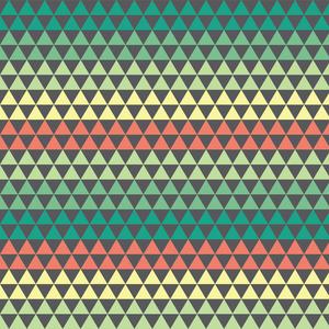 Optical Illusion Multicolor Triangles