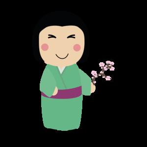 Kokeshi Doll In Kimono