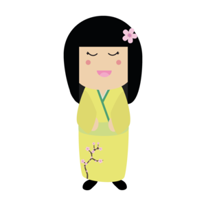 Kokeshi Doll In Yellow