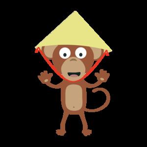 Vietnamese Monkey With Hat