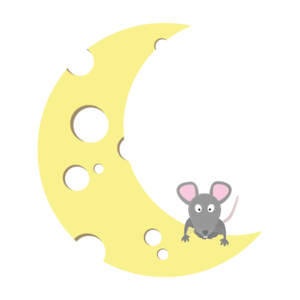 Mouse On The Cheese Moon