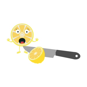 Lemon With Knife