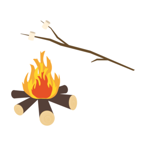 Campfire With Marshmallows On A Stick