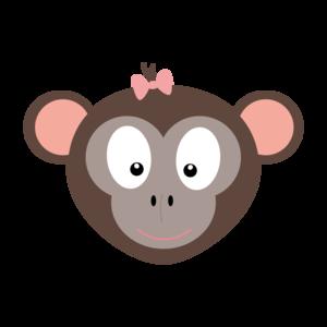 Monkey With Pink Ribbon