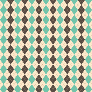 Chocolate And Mint Rhombus Pattern