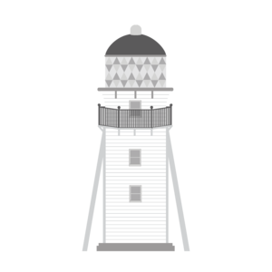 Lighthouse In Gray
